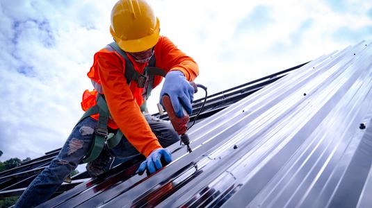 repairing a metal roof